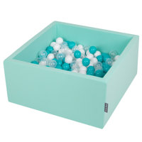 Mint:Turquoise/Transparent/White