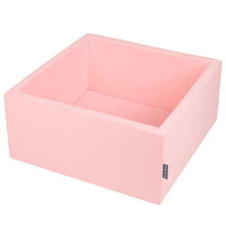 KiddyMoon Baby Foam Ball Pit Without Balls, Certified, Made in EU Pink