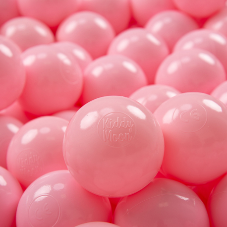 KiddyMoon plastic balls for children ∅ 7cm/2.75in colourful certified, Light Pink