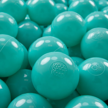 KiddyMoon plastic balls for children ∅ 7cm/2.75in colourful certified, Light Turquoise