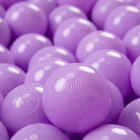 KiddyMoon plastic balls for children ∅ 7cm/2.75in colourful certified, Lilac