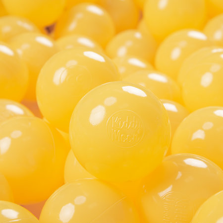 KiddyMoon plastic balls for children ∅ 7cm/2.75in colourful certified, Yellow