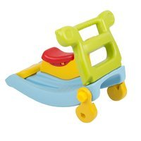 safe colourful kids plastic rocker slide 2 in 1, Blue-Yellow-Green