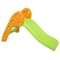 safe colourful kids plastic slide, Green-Orange-Green