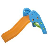 safe colourful kids plastic slide, Orange-Blue-Green