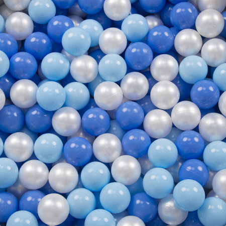 Big size Playground with plastic balls play pen cage filed, Dark Blue: Babyblue/ Blue/ Pearl