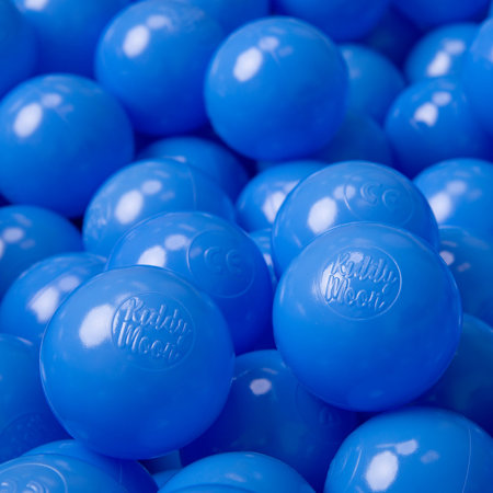 KiddyMoon Soft Plastic Play Balls ∅ 6cm / 2.36 Multi Colour Certified, Blue