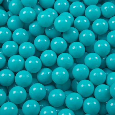 KiddyMoon Soft Plastic Play Balls ∅ 6cm / 2.36 Multi Colour Certified, Turquoise