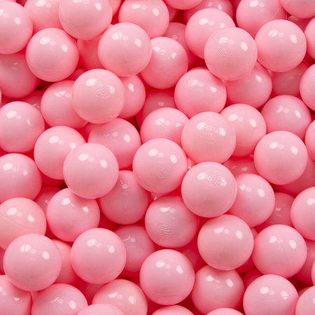 KiddyMoon Soft Plastic Play Balls 7cm/ 2.75in Mono-colour certified, Light Pink