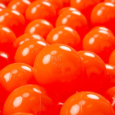 KiddyMoon Soft Plastic Play Balls 7cm/ 2.75in Mono-colour certified, Orange