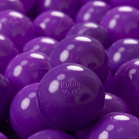 KiddyMoon Soft Plastic Play Balls 7cm/2.75in Mono-colour certified, Purple