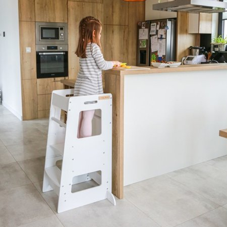 KiddyMoon wooden funpod kitchen helper ST-003, Plywood /  Black