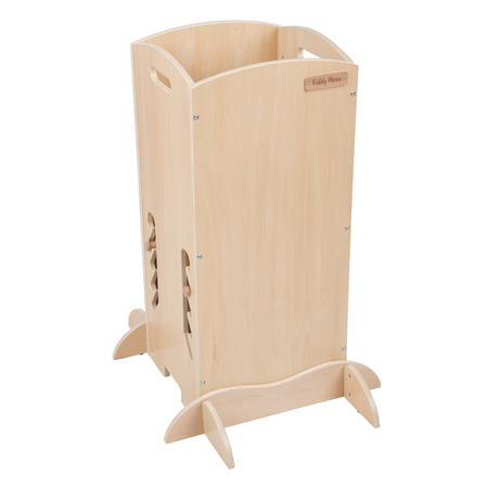 KiddyMoon wooden kitchen helper safety stand  ST-001, Natural Wood