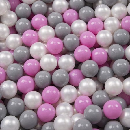 Play Tent Castle House Pop Up Ballpit Shell Plastic Balls For Kids, Grey:Pearl/Grey/Pink