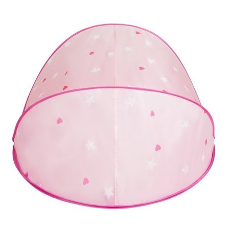 Play Tent Castle House Pop Up Ballpit Shell Plastic Balls For Kids, Pink Shell:White-Grey-Powder Pink