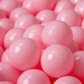KiddyMoon Soft Plastic Play Balls ∅ 6cm / 2.36 Multi Colour Certified, Light Pink