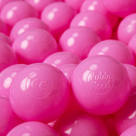 KiddyMoon Soft Plastic Play Balls ∅ 6cm / 2.36 Multi Colour Certified, Pink