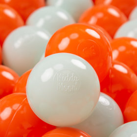KiddyMoon Soft Plastic Play Balls ∅ 7cm/2.75in Multi-colour Certified, Orange/Mint