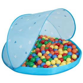 Play Tent Castle House Pop Up Ballpit Shell Plastic Balls For Kids, Blue Shell:Yellow-Green-Blue-Red-Orange